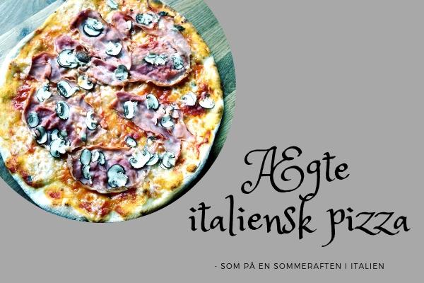 Ægte italienske pizza med skinke
